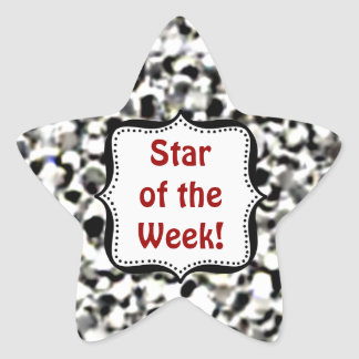 Stickers -Silver Glitter Student Star of the Week