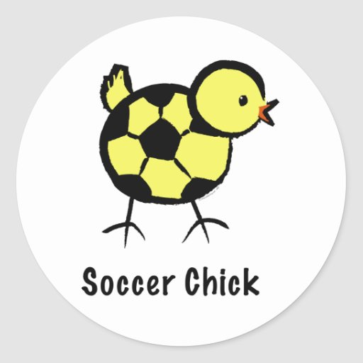 Stickers: Soccer Chick by Kim Y. Classic Round Sticker