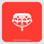[Crown upside down]  Stickers (square)