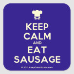 [Chef hat] keep calm and eat sausage  Stickers (square)