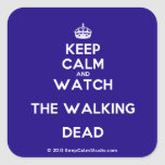 [Crown] keep calm and watch the walking dead  Stickers square