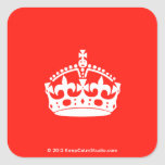 [Crown]  Stickers (square)