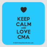 [Love heart] keep calm and love cma  Stickers (square)