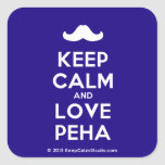 [Moustache] keep calm and love peha  Stickers (square)