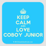 [Crown] keep calm and love coboy junior  Stickers square