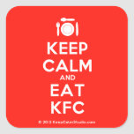 [Cutlery and plate] keep calm and eat kfc  Stickers (square)