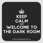[Crown] keep calm and welcome to the dark room  Stickers (square)