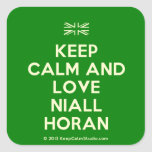 [UK Flag] keep calm and love niall horan  Stickers square
