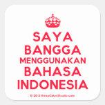 [Crown] saya bangga menggunakan bahasa indonesia  Stickers (square)