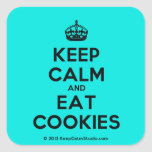 [Crown] keep calm and eat cookies  Stickers (square)