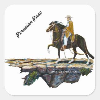 Stickers, Square, Peruvian Mountain Trail Square Sticker