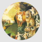 Stickers: The Peaceable Kingdom Classic Round Sticker