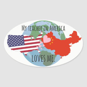 Stickers to Send to Students: USA, Love
