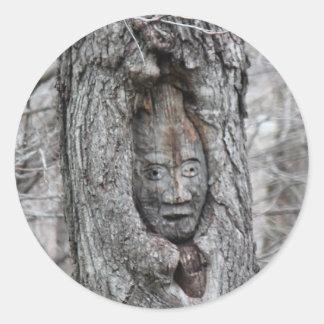 Stickers - Tree Gnome in Grey