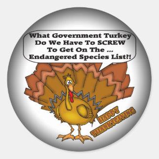 Stickers - Turkey Endangered Species