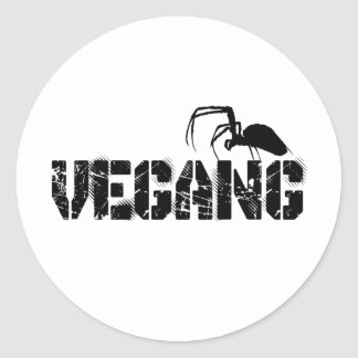 Stickers Vegang Pegatina Redonda