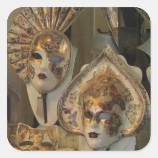 Stickers--Venetian Masks Square Sticker