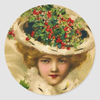 STICKERS-Victorian Christmas Wman