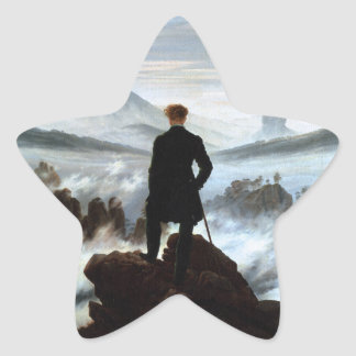 Stickers Wanderer above the Sea of Fog