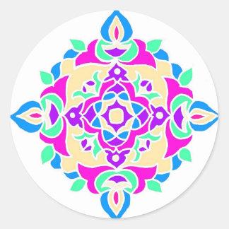 Stickers with Rangoli Pattern