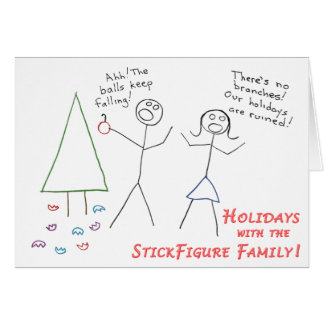 StickFigure Family Holiday Card