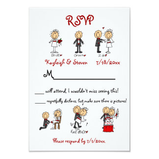 Stickfigure RSVP Card