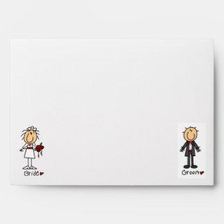 Stickfigure Wedding Envelope