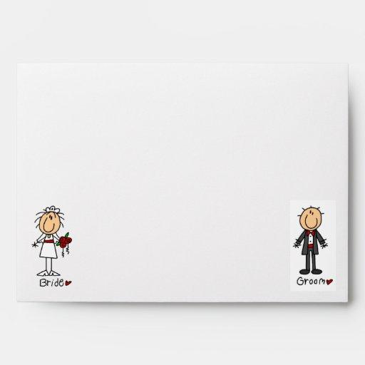 Stickfigure Wedding Envelopes