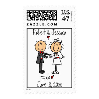 Stickfigure Wedding Invitation Postage