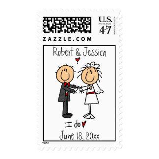 Stickfigure Wedding Invitation Stamp