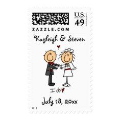 Stickfigure Wedding Postage