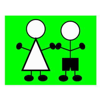 stickfigures-310666 stickfigures children girl boy post cards