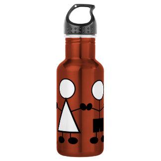 stickfigures-310666 stickfigures children girl boy water bottle
