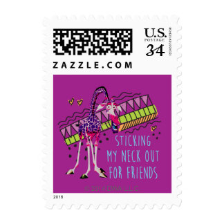 Sticking My Neck Out for Friends Postage