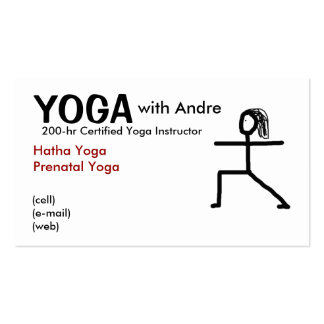 stickman3 YOGA with Andre Certified Yoga Ins Business Card