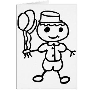 Stickman Balloon Boy Card