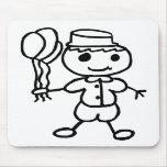 Stickman Balloon Boy Mouse Pad
