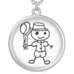 Stickman Balloon Boy Personalized Necklace