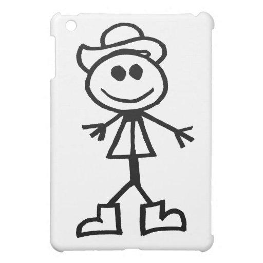 Stickman Cowboy iPad Mini Cover