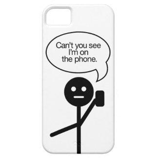 """StickMan """"en caja del teléfono del teléfono"""" iPhone 5 Funda"""