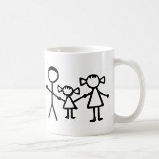 Stickman family coffee mug