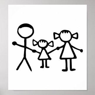 Stickman family poster