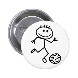 Stickman Football Pinback Button