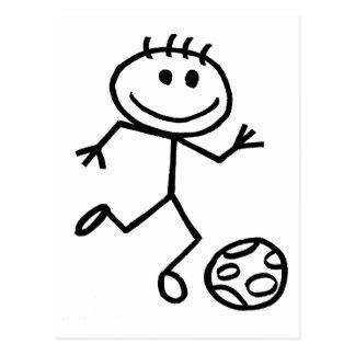Stickman Football Postcard