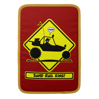 STICKMAN SAND RAIL Road Signs MacBook Air Sleeve