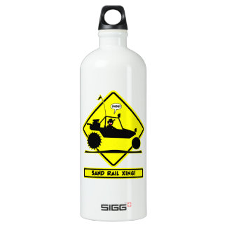 STICKMAN SAND RAIL Road Signs Water Bottle