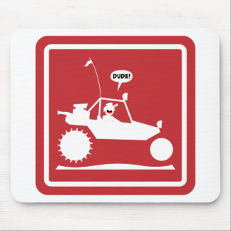 STICKMAN SAND RAIL Warning Signs Mouse Pad