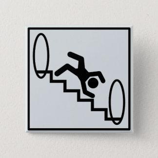 Stickman Stairs - Danger Pinback Button
