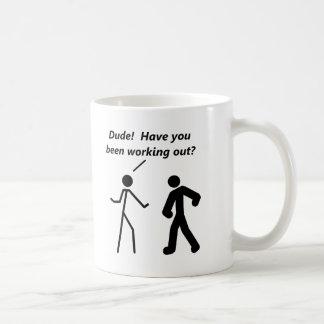 Stickman Workout Funny Mug