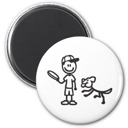stickmanchuckitblack.png 2 inch round magnet